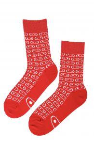 Хлопковые носки красного цвета для мужчин и женщин ROBOTEX | Sokisahtel