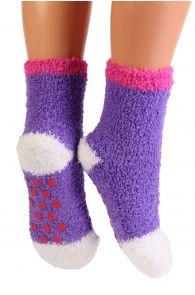 RONJA cozy lilac home socks for kids | Sokisahtel