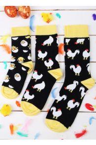 Подарочный пасхальный набор с 3 парами хлопковых носков для всей семьи CHICK | Sokisahtel