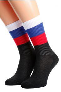 Хлопковые носки для женщин и мужчин с российским флагом RUSSIA | Sokisahtel