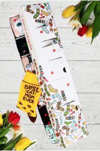 Подарочный набор-сюрприз ко Дню Матери из 7 пар женских носков на каждый день недели CAT MOM | Sokisahtel