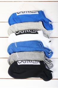 CALVIN KLEIN lühikesed sinised naiste sokid 6tk | Sokisahtel
