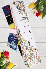 Подарочный набор-сюрприз ко Дню Матери из 7 пар женских носков на каждый день недели PARIM EMA (Лучшая мама) | Sokisahtel