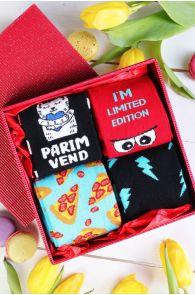 Подарочный набор с 4 парами мужских хлопковых носков PARIM VEND (лучший брат) | Sokisahtel