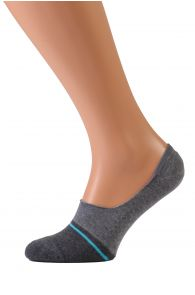 VALERI grey no show socks for men | Sokisahtel