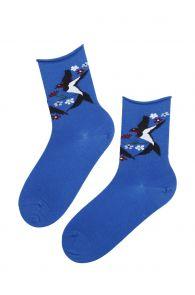 SWALLOW sinised meriinovillased sokid naistele | Sokisahtel