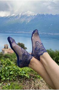 Женские кружевные носки темно-синего цвета TERESA | Sokisahtel