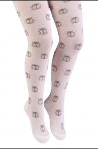 TRIINU creamy white tights for kids | Sokisahtel