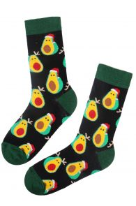 AVOCADO JOY cotton Christmas socks for men   Sokisahtel