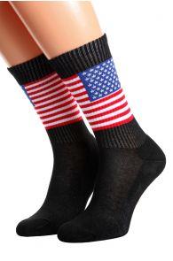Хлопковые носки для женщин и мужчин с американским флагом AMERICA | Sokisahtel