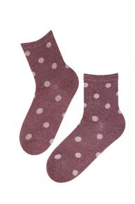 VAIKE purple cotton socks with shiny dots   Sokisahtel
