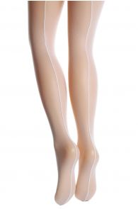 VALERIA white micro mesh tights for women | Sokisahtel