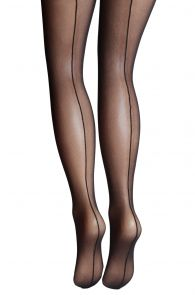 VALERIA black micro mesh tights for women | Sokisahtel