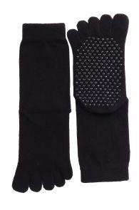 Носки черного цвета с пальцами и с противоскользящей подошвой для мужчин и женщин JOHNNY | Sokisahtel