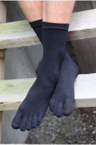 Носки с пальцами MEN TOES черного цвета | Sokisahtel