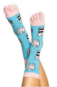 Хлопковые носки с пальцами для мужчин и женщин с узором в виде котиков CAT | Sokisahtel