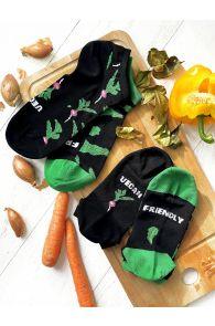 VEGAN black low-cut chef socks | Sokisahtel